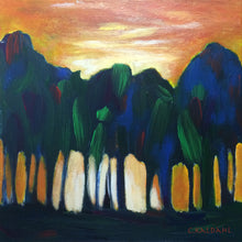 Glowing Oasis, acrylic painting by Cheryl Kaldahl
