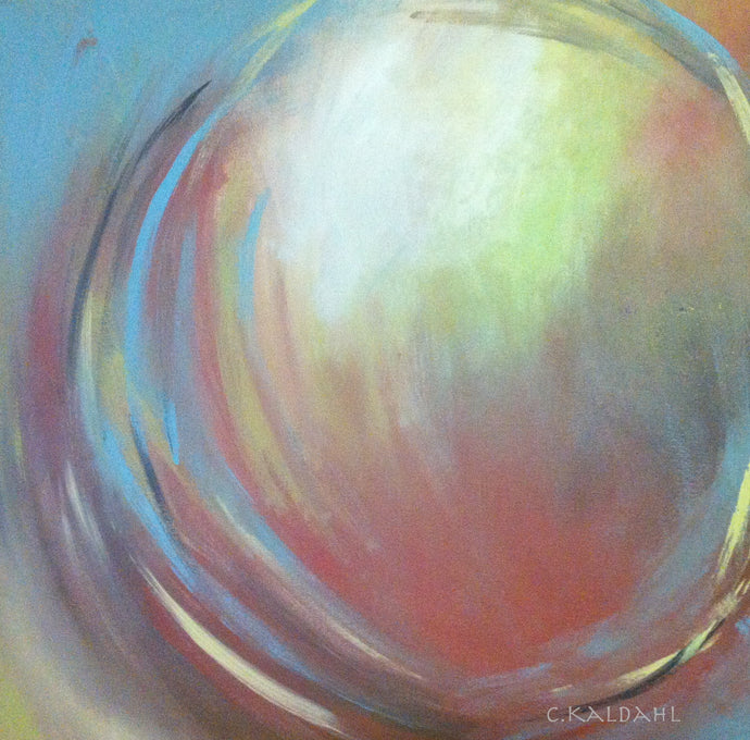 Conductivity in Motion, acrylic painting by artist Cheryl Kaldahl