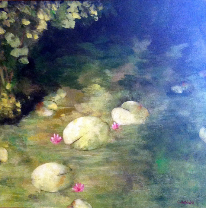 Lily Pond, acrylic painting by artist Cheryl Kaldahl