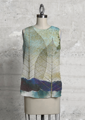 Leaf Silhouette Sleeveless Top