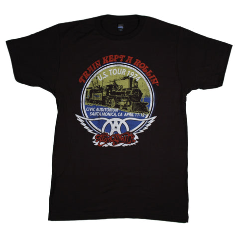 Aerosmith Train Kept A Rollin Slim Fit T-Shirt
