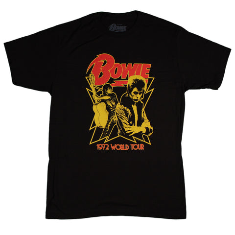 David Bowie 1972 World Tour Slim Fit T-Shirt