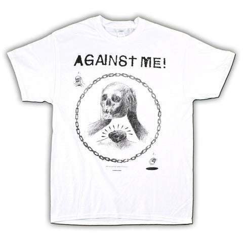 Against Me Skullhead Drawing T-Shirt