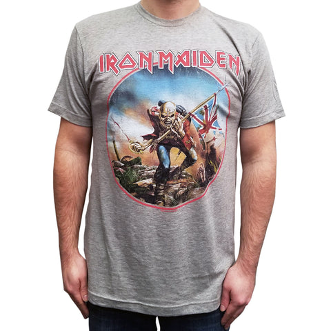 Iron Maiden Trooper Circle Vintage Soft T-Shirt