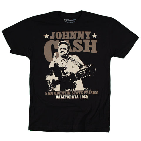 Johnny Cash Outlaw Finger Slim Fit T-Shirt