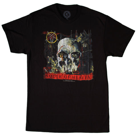 Slayer South of Heaven Distressed Print T-Shirt