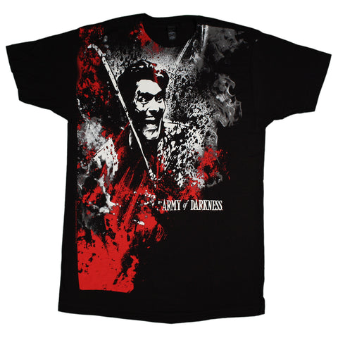 Army Of Darkness Blood And Smoke Big Print T-Shirt