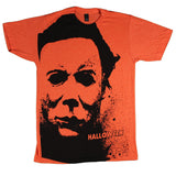 Halloween Splatter Mask Big Print T-Shirt