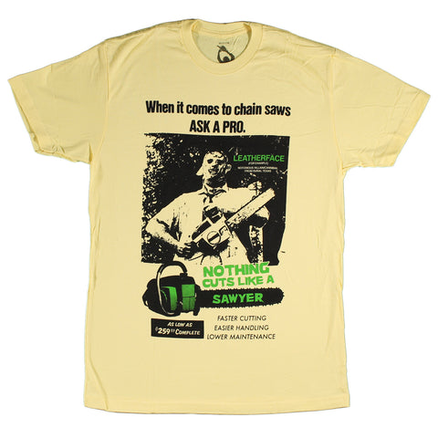 Texas Chainsaw Massacre Cuts Like A Sawyer Slim Fit T-Shirt