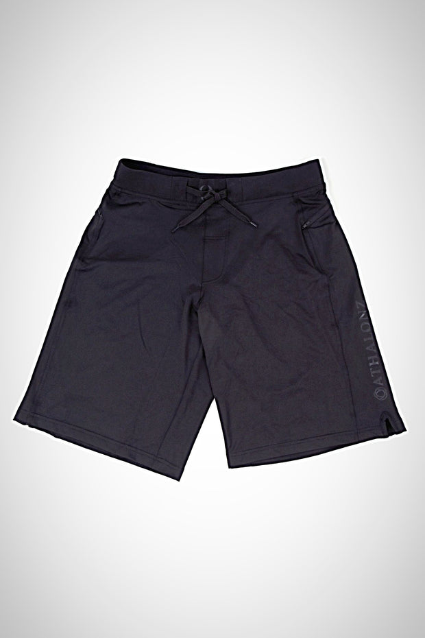 Athalonz Vertex Zip Pocket Short - Black