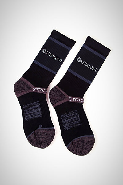 Athalonz Crew Athletics Socks - Black