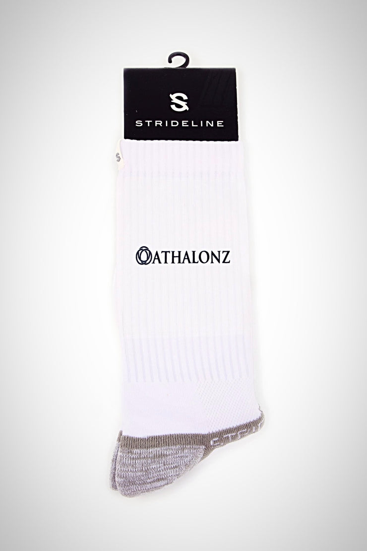 Athalonz Crew Athletics Socks - White