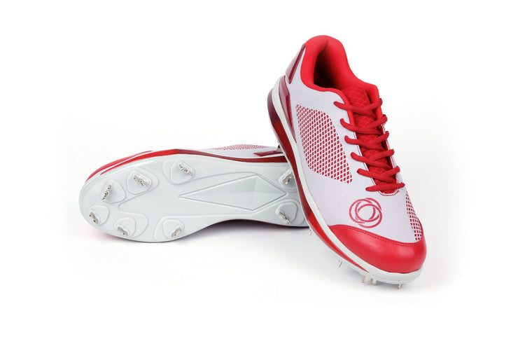Athalonz GF1 Metal Baseball & Softball Cleats - Red