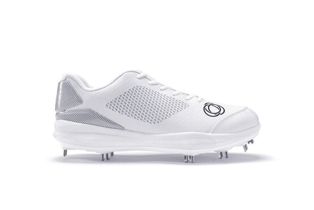 Athalonz GF1 Metal Baseball & Softball Cleats - White