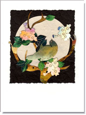 Songbird Moon Greeting Card ~ 1002