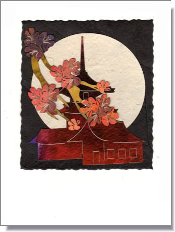 Teahouse Moon Handmade Greeting Card ~ 1009