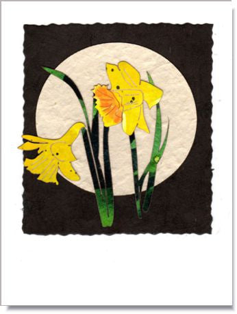 Daffodil Moon Handmade Greeting Card ~ 1013