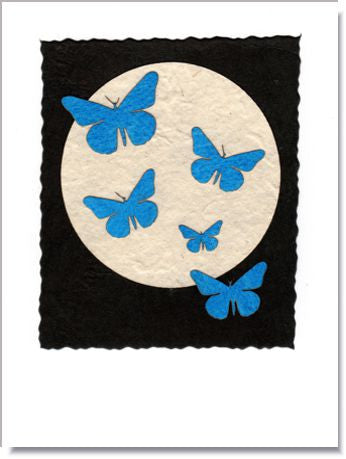 Morpho Moon Greeting Card ~  1015