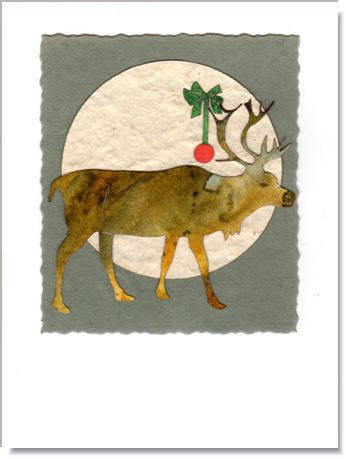Reindeer Moon Greeting Card ~ 1017