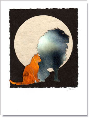 Cattitude Moon greeting card