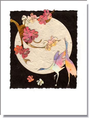 Crane Moon Greeting Card