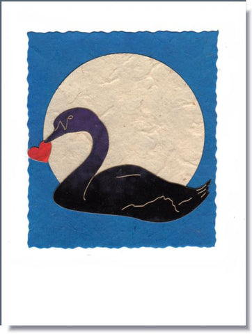 Swan Moon Greeting Card ~ 1042H