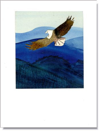 Blue Ridge Eagle Greeting Card ~ 1205
