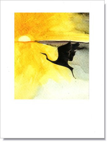 Egret Sunrise Greeting Card ~ 1209