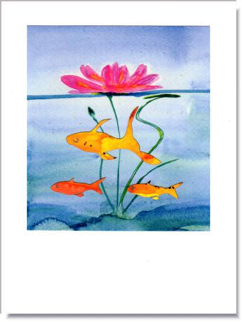 Floating Water Lily Greeting Card ~ 1210