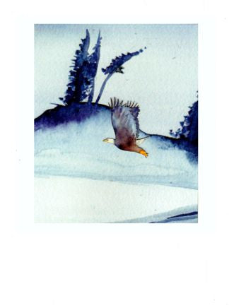 Eagle Lake Greeting Card ~ 1221