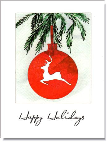 Stag Ornament Greeting Card ~ 1245