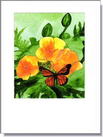 Yellow Poppies Greeting Card ~ 1263