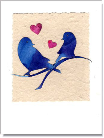 Bluebird Love greeting card