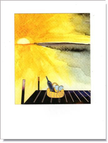 Picnic on the Dock Greeting Card ~ 1279