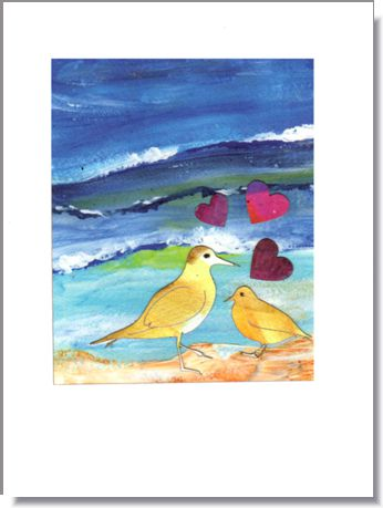 Sandpiper Love Greeting Card ~ 1286