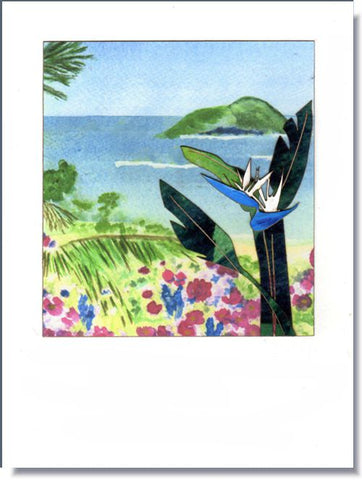 White Bird of Paradise Greeting Card ~ 1306