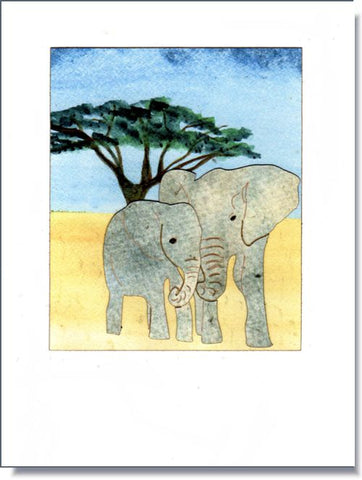 Serengeti Elephants Greeting Card ~ 1309