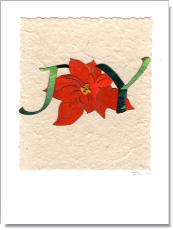 Poinsettia Joy Greeting Card ~ 1603