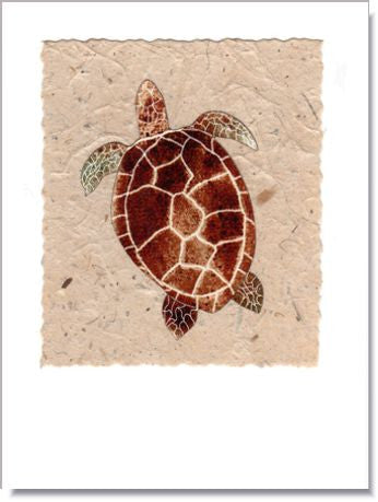 Sea Turtle Handmade Greeting Card ~ 1604