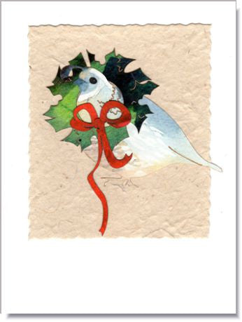 Quail Wreath Greeting Card ~ 1605