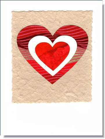 Tiered Heart Greeting Card  ~ 1612