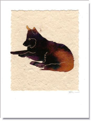 Dog Just Chillin' Handmade Greeting Card ~ 1613