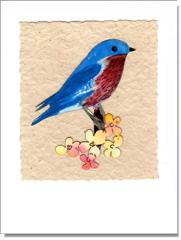 Bluebird Handmade Greeting Card ~ 1619