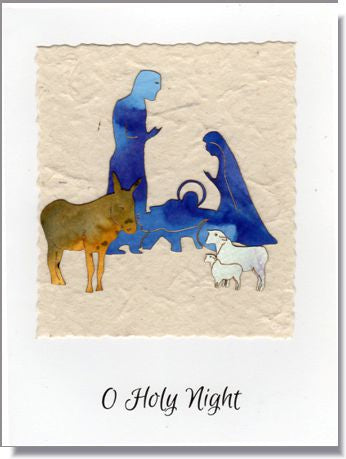 Nativity Scene Handmade Greeting Card  ~ 1646