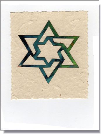 Double Star of David card