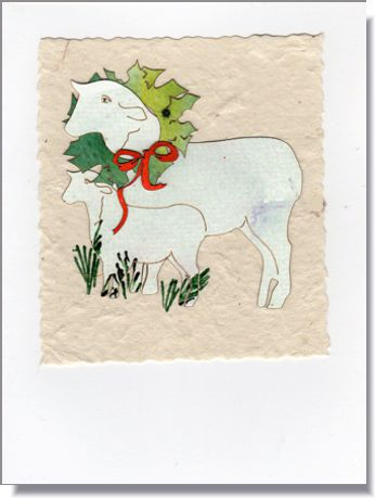 Sheep Handmade Greeting Card  ~ 1645