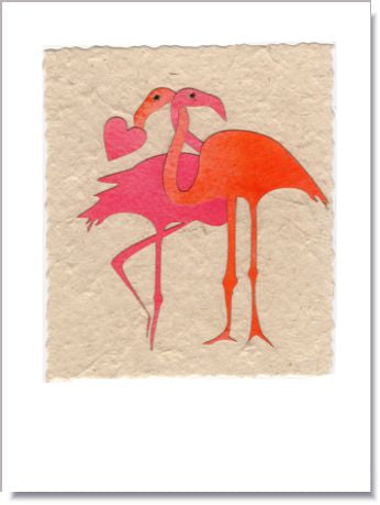 Flamingo Love Handmade Greeting Card ~ 1648