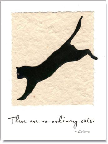 Running Cat Greeting Card ~ 164