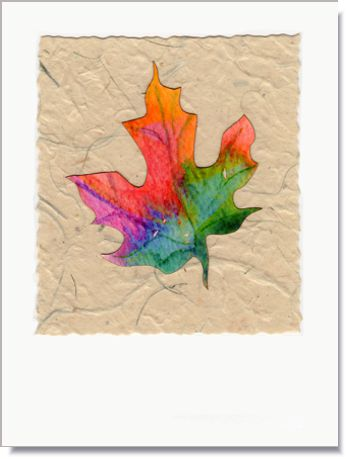 Maple Leaf Handmade Greeting Card ~ 1652