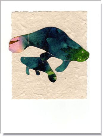 Manatee Greeting Card ~ 254
